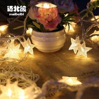 luces de cadena de hadas de led blanco al por mayor-3M Estrellas Blanco Cálido LED de Hadas Cortina de Luz de La Boda Lámparas de Decoración de Navidad Partido 2018 Decoración de Navidad