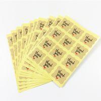 pequeños paquetes de pegatinas al por mayor-6000 Unids / lote Papel Kraft Gracias Etiqueta de Embalaje Sello Pegatina Pegatinas Pequeñas Para Regalo Etiqueta Adhesiva