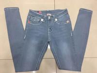 ingrosso pantalone stretto jeans denim-Le nuove 2016 donne vero marchio famoso denim jeans moda denim pantaloni stretti Skinny nero sottile donna jeans per donna