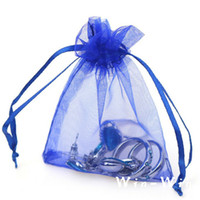 Wholesale best jewelry packaging resale online - Royal Blue Organza Bags x9 x12 x15 x18CM Jewelry Packaging Best For Wedding Favors jewellery Drawstring Pouch