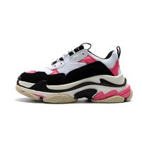 Wholesale cheap sneakers for sale - Cheap Fashion Paris FW Triple S Sneaker Triple S Casual Luxury Dad Shoes for Men s Women Beige Black Sports Tennis Running Shoe