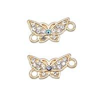 ingrosso migliori tacchini-50pcs squisita goccia olio turchia occhio farfalla migliore amico braccialetto di fascino gioielli con strass gioielli braccialetto accessori braccialetto fai da te accesso