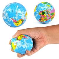 ingrosso giocattolo della sfera della terra-Globe Squeeze Stress Balls, 24 pezzi 3