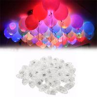 balon ampulleri toptan satış-50 adettakım led balon işık bullet anahtarı işık mini ampuller parlayan balon bar parti düğün tatil anneler günü dekorasyon