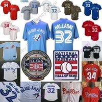 camisetas de beisbol toronto al por mayor-Roy Halladay Jersey 2019 de béisbol Salón de la Fama en Cooperstown Toronto Filadelfia MN Hombres Mujeres baja fresca