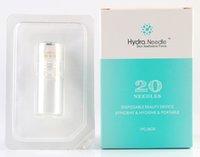 mikroneedle haut meso rolle großhandel-2018 Hydra Needle 20pins Titan Mikronadel Meso Derma Roller Nadelfreie Mesotherapie Hautpflege Verjüngung Whiten Anti-Falten-Akne