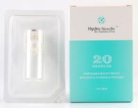 ingrosso rullo di meso di pelle microneedle-2018 Hydra Needle 20pins Titanium Microneedle Meso Derma Roller Mesoterapia senza aghi Cura della pelle Ringiovanimento Whiten Anti Rughe Acne