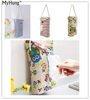 Wholesale cartoon walls home for sale - Group buy Hanging Type Tissue Box Durable Creative Cartoon Wall Paper Napkin Holder Car Storage Bags For Home Decoration Bathroom Office