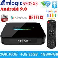 Wholesale android tv wifi 2gb resale online - X10 MAX PLUS GB GB Android TV Box Dual WiFi Bluetooth Amlogic S905X3 TV Box K Media Player P X96 AIR TX3