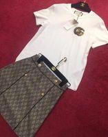 ingrosso blazer button set-2019 White Designer Letter Embroidery Blazer e shorts da donna High End O Colletto Double Buttons Set 2 pezzi 005