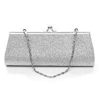 блестящие серебряные сумочки оптовых-Мода женщин Блеск серебра цвета сцепления кошелек партии вечера Свадебный банкет сумки Сумка Элегантная сумка Bussiness