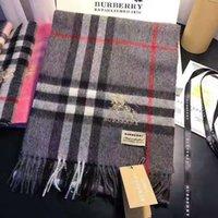 manta de cashmere impressão venda por atacado-Design de alta qualidade cachecol de caxemira clássico xadrez cashmere design de moda cachecol de caxemira impresso lenço 180 * 30 centímetros