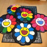 Wholesale sun flower for sale - Group buy New style TAKASHI MU sun flower colorful carpet floor mat ins wind art tide brand living room kitchen carpet decoration HD93