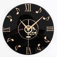 nota de audio al por mayor-Envío gratis Envío gratis Tivoli audio nota fecha 3 d vinilo CD reloj de pared Relojes de pared de moda