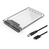 ssd external hard drives 2021 - Clear USB3.0 to SATA3.0 External Hard Drive Case Enclosure with Cable for 2.5inches HDD and SSD SATA Interface Gard Clear