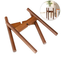 Wholesale wood flooring types online - Flower Pot Rack Cross Useful Portable Decorative Beech Wood Indoor Plant Stand Pot Bracket for Garden Supplies
