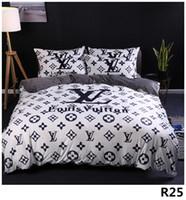 colcha de flores de laranja venda por atacado-Cama queen Comforters Define designer de cama conjuntos Quilt cover 4 peças terno modelos de Explosão de espessura de veludo de cristal digital de impressão Cama 2.0M25