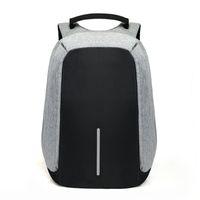 su geçirmez tablet poşetler toptan satış-15 inç Laptop Sırt Çantası USB Şarj Anti Hırsızlık Sırt Çantası Erkekler Seyahat Sırt Çantası Su Geçirmez Okul Çantası Erkek Mochila