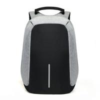 laptop mochila 15 polegadas venda por atacado-15 polegada Mochila Laptop de Carregamento USB Anti Roubo Mochila Homens Mochila de Viagem À Prova D 'Água Saco de Escola Mochila Masculina