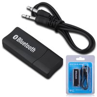usb 3.5mm adaptör toptan satış-Kablosuz Bluetooth Araç Kiti Adaptörleri 3.5mm Jack Alıcıları Aux Stereo USB Mini Hoparlör Kulaklık için Handsfree Bluetooth Ses Müzik Alı ...