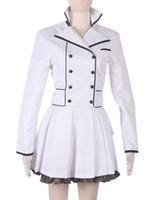 hitman yeniden doğmuş kostümler toptan satış-Anime RWBY Sezon 2 Beyaz Weiss Schnee Lolita Elbise Cosplay Kostüm