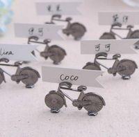 fahrradkarten geben verschiffen frei großhandel-200pcs Hochzeits-Platzkartenhalter