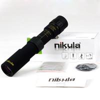 trípode cazado al por mayor-Binoculares originales Nikula 10-30x25 Zoom Monocular telescopio de bolsillo binoculo de alta calidad de caza óptica prisma alcance sin trípode
