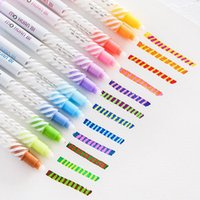 Wholesale color magic drawing for sale - Group buy Double Head Magic Discoloration Pen Highlighters Art Marker Pens Pastel Liquid Markers Water Color Brush Pen Drawing