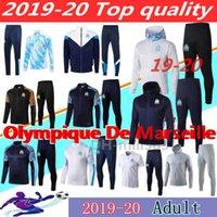 ingrosso felpa con cappuccio-2019 giacca 2020 l'Olympique de Marseille con cappuccio tuta Survêtement 18 19 20 PAYET THAUVIN giacca con cappuccio OM calcio tuta da jogging