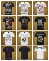 europäische männer s kleidung großhandel-2019 Sommer europäische und amerikanische grenzüberschreitende Außenhandel Herrenbekleidung Rundhalsausschnitt schlank kurzarm T-Shirt Top # 1254