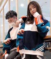 oğlan pamuklu hoodie toptan satış-Tasarımcı Çift Hoodies Kadın Erkek için Lüks Hoodie Tasarımcı Kazak Gevşek AD Pamuk Karışımı Moda Gelgit Streetwear Ekip Boyun Sonbahar Bahar