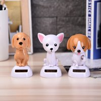 Wholesale swing magic resale online - Magic Solar Powered Dancing Dogs Swinging Bobble Toy Gift Car Decoration Novelty Happy Dancing Solar animal Toys For Children
