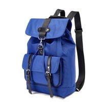 ingrosso zaino universitario blu-Viaggi zaino da viaggio zaino anti-furto borsa casual semplice studente universitario borsa uomini e donne moda borsa di tela, blu