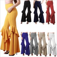 Wholesale bloomers yoga pants for sale - Group buy Pleated Pants Women High Waist Wide Leg Pants Dance Bloomers Yoga Fitness Capris Casual Fashion Harem Pants Hot Loose Palazzo Trousers A3972