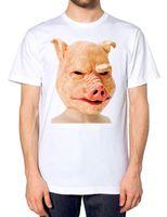 vestido de porco venda por atacado-Porco Máscara T Camisa do Dia Das Bruxas Barato Fácil Traje Engraçado Animal Assustador Vestir Oink Marca camisas jeans imprimir