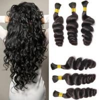 Wholesale loose wave human braiding hair resale online - Unprocessed Curly Braiding Human Hair A Deal Cheap Brazilian Loose Wave Hair Bulk For Micro Braids Top Bulk Hair