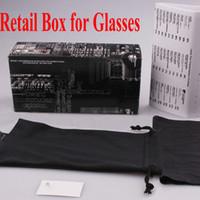 embalaje de fábrica al por mayor-Paquetes de gafas de sol con caja, estuche, tela, paquetes de retai de buena calidad precio de fábrica para gafas de sol de marca