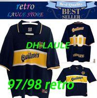 96dea40c1ec Wholesale classic soccer jerseys for sale - Group buy 97 Boca Juniors Retro  Soccer Jersey Maradona
