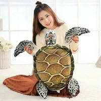 Wholesale toy sea turtles resale online - 40 cm New Style summer sea Tortoise plush toys stuffed soft PP Cotton pillow Cushion Turtle doll Christmas present kids SH190913