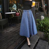 48d4405cd korean fashion skirt long 2019 - 2019 new fashion summer autumn Korean plus  size maxi skirt