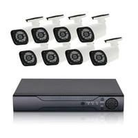sistema de cámara de vigilancia para el hogar de 8 canales. al por mayor-8CH AHD DVR sistema de vigilancia 1080P AHD cámara set HD CCTV DVR grabador para seguridad en el hogar