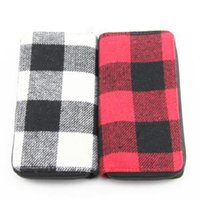 Wholesale zipper clutch men online - plaid wallet long clutch bag ladies classic Zipper Wallet women Men Business Coin bag Vintage fashion Card holder party favor FFA1495