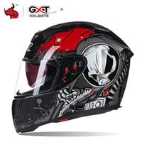 Wholesale gxt motorcycle helmets resale online - GXT Motorcycle Helmet Casco Moto Double Viso Moto Helmets Full Face Riding Motocross Helmet Capacete Motociclista For Men
