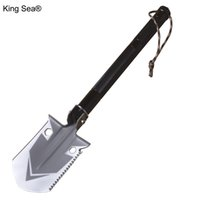 Wholesale multifunctional outdoor shovel for sale - Group buy King Sea Folding Camping Shovel Multifunctional Aluminum Tactical Outdoor Spade Survival Emergency Tools with Knife Hammer T200306