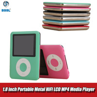 Wholesale video games media resale online - Portable Metal HiFi MP4 with Earphones inch Screen LCD Media gb Video Game Movie FM Radio Recorder Walkman Bluetooth MP3 Music Player