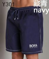 ingrosso riassunti di pugile nylon blu-Pantaloncini di marca! Pantaloncini da bagno traspiranti di design da uomo di marca tedesca stampati con logo sportivo di alta qualità