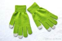 invierno mano femenina guante al por mayor-2019 Nueva Moda Unisex Invierno Cálido Guantes de punto Calentador de manos para pantalla táctil Teléfono inteligente Guantes femeninos 12 estilos H924Q