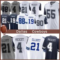 Wholesale 21 american football resale online - 4 Prescott Jersey new Dallas Elliott Vander Esch Cowboys Lawrence Game American football jerseys