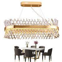 ingrosso tonalità di lampade da soffitto in vetro d'epoca-LED lampadario di cristallo soggiorno illuminazione American designer hotel rettangolare sala da pranzo lampada di lusso apparecchio di illuminazione Fedex
