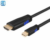 ingrosso 3ft cavo hdmi per hdtv-Mini DP a HDMI Cavo 3FT 4K mDP (Thunderbolt 2 Port) a HDMI AV Adattatore HDTV Compatibile con MacBook